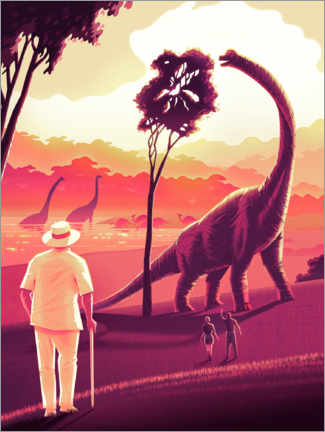 Premium-Poster Welcome to Jurassic Park