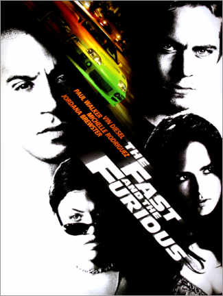 Wandsticker  The fast and the furious