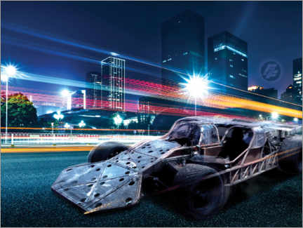 Wandsticker  The Fast and the Furious - City Lights