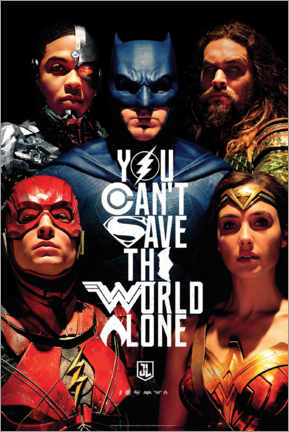 Premium-Poster  Justice League - Can't save the world alone
