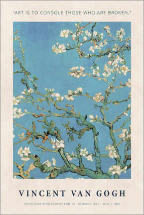Gallery Print  Vincent van Gogh - Art is to console - Museum Art Edition