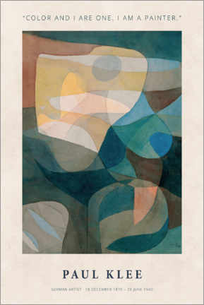 Gallery Print  Paul Klee - Color and I - Museum Art Edition