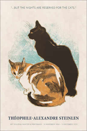Holzbild  Théophile-Alexandre Steinlen - Reserved for the cats - Museum Art Edition