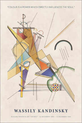 Premium-Poster  Wassily Kandinsky - Colour is a power - Museum Art Edition