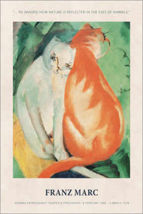 Premium-Poster  Franz Marc - In the eyes of animals - Museum Art Edition