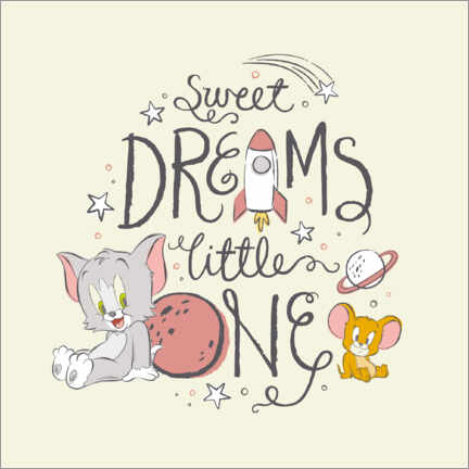 Premium-Poster Tom & Jerry - Sweet dreams little one