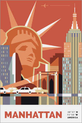 Premium-Poster Manhattan New York