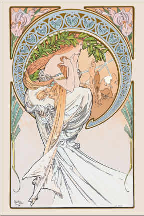 Leinwandbild  The Arts ? Poetry - Alfons Mucha