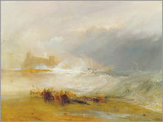 Wandsticker  Wreckers - Küste von Northumberland - Joseph Mallord William Turner