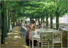 Gallery Print  Terrasse vom Restaurant Jacob in Nienstedten an der Elbe - Max Liebermann