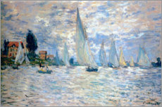 Alubild  Regatta in Argenteuil - Claude Monet