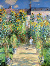 Gallery Print  Garten in Vetheuil - Claude Monet