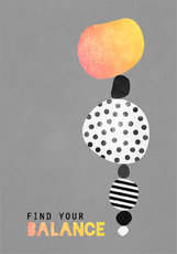 Wandsticker  Find your balance - Elisabeth Fredriksson