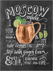 Gallery Print  Moscow Mule Rezept (Englisch) - Lily & Val