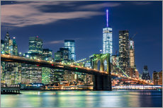 Wandsticker  New York Skyline und Brooklyn Bridge - Sascha Kilmer