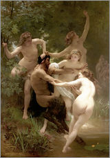 Gallery Print  Nymphen und Satyr - William Adolphe Bouguereau