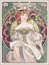 Gallery Print  Reverie - Alfons Mucha