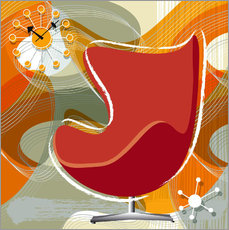 Wandsticker Lounge Chair III