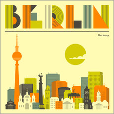 Gallery Print  Berlin Skyline - Jazzberry Blue