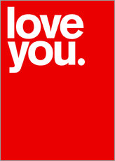 Wandsticker  Love you. - THE USUAL DESIGNERS