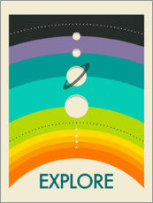 Wandsticker  Explore I - Jazzberry Blue