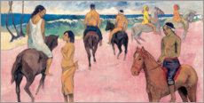 Gallery Print  Reiter am Strand - Paul Gauguin