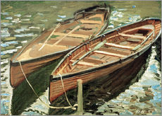 Gallery Print  Boote - Claude Monet