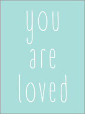 Wandsticker  You Are Loved - Du wirst geliebt - Finlay and Noa