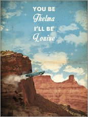 Wandsticker  alternative thelma and louise retro film art - 2ToastDesign