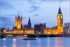 Wandsticker  Big Ben und Westminster Bridge in London