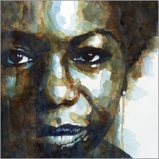 Wandsticker  Nina Simone - Paul Lovering Arts