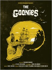Wandsticker  The Goonies movie inspired skull never say die art - Golden Planet Prints