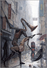 Wandsticker  Life is a dance in the rain - Adrian Borda