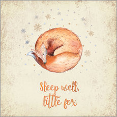 Wandaufkleber Sleep well little fox