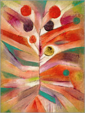 Holzbild  Federpflanze - Paul Klee