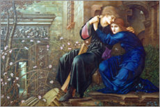 Wandsticker  Liebe in den Ruinen - Edward Burne-Jones