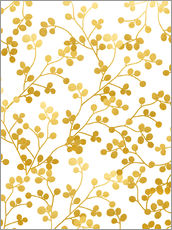 Wandsticker  Golden Vines - Uma 83 Oranges