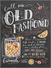 Gallery Print  Old Fashioned Rezept (Englisch) - Lily & Val