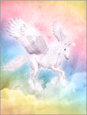Wandsticker  Einhorn Pegasus - Big Dreams - Dolphins DreamDesign