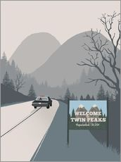Wandaufkleber  Alternative welcome to twin peaks art - 2ToastDesign