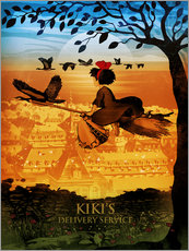 Wandsticker  Kiki's Delivery Service - Albert Cagnef