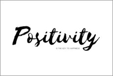 Gallery Print  Positivity is the key to happiness (Englisch) - Ohkimiko