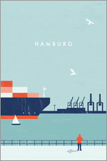 Gallery Print  Hamburg Illustration - Katinka Reinke