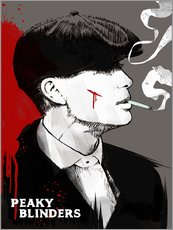 Gallery Print  Tommy Shelby, Peaky Blinders - 2ToastDesign