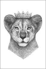 Gallery Print  The lion princess - Valeriya Korenkova