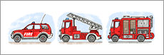 Wandsticker  Hugos Feuerwehr Set - Hugos Illustrations