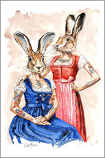 Gallery Print  LES BUNNIES - Peter Guest