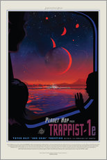 Gallery Print  Retro Space Travel - Trappist1e