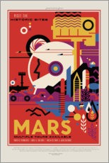 Gallery Print  Retro Space Travel - Mars
