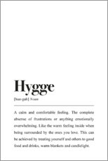 Wandsticker  Hygge Definition (Englisch) - Pulse of Art